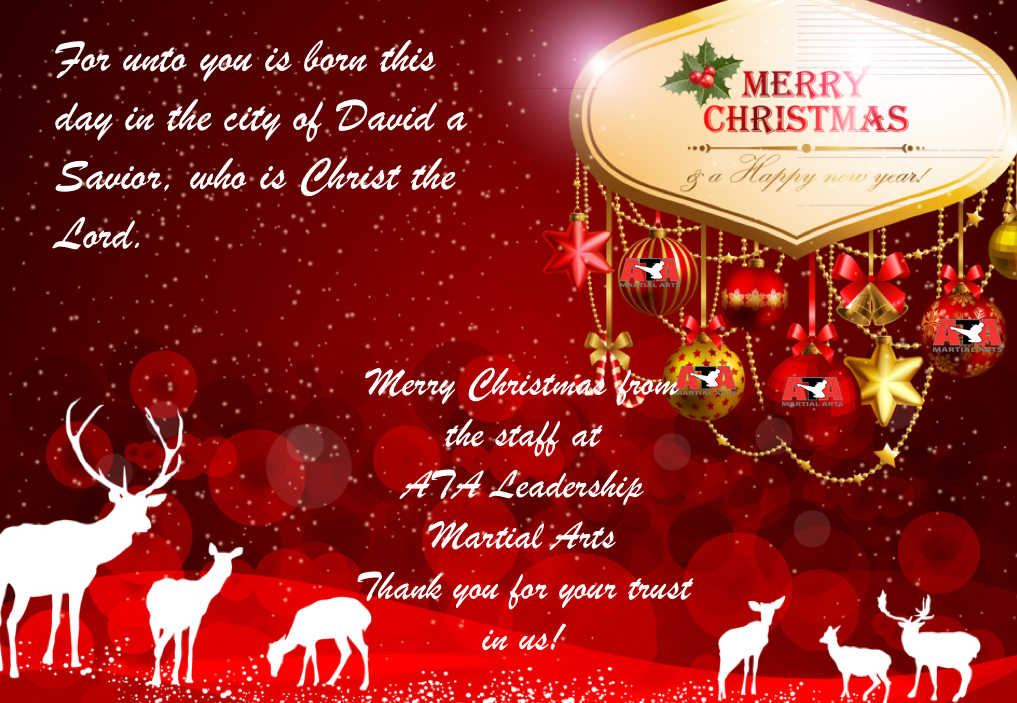 Merry Christmas and Happy New year From ATA Leadership Martial Arts!