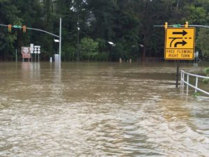 Flooding Downtown Fayetteville